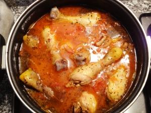 Frango com molho de tomate